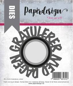 Bilde av Papirdesign Dies PD15131 - Gratulerer, sirkel