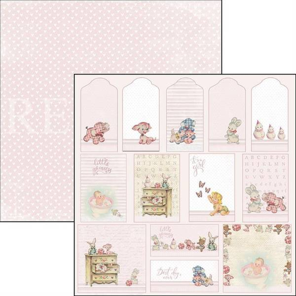 Reprint - 12x12 - RP0346 - It´s a girl - Tags