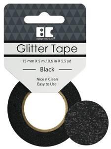 Bilde av BC - Glitter Tape - 15mm x 5m - 006 - Black