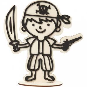 Bilde av Creotime - Dekorasjonsfigur - Sjørøver med pistol - H: 17 cm
