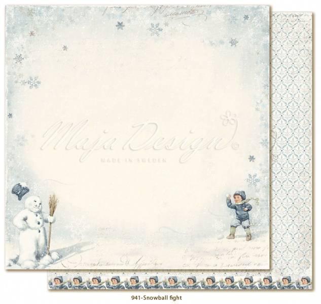 Maja Design - 941 - Joyous Winterdays - Snowball fight