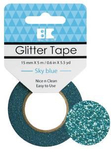 Bilde av BC - Glitter Tape - 15mm x 5m - 007 - Sky Blue