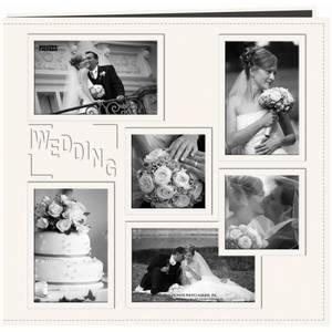 Bilde av Pioneer - Leatherette Post Bound Album - 12x12 - Wedding - White