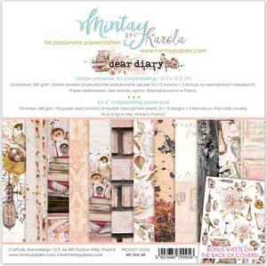Bilde av Mintay - DIA - 6x6 Paper Pad - Dear Diary