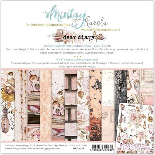 Mintay - DIA - 6x6 Paper Pad - Dear Diary