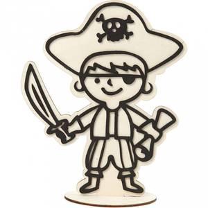 Bilde av Creotime - Dekorasjonsfigur - Pirat med skattekart - H: 19 cm