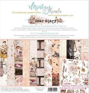 Bilde av Mintay - DIA - 12x12 Paper Set - Dear Diary