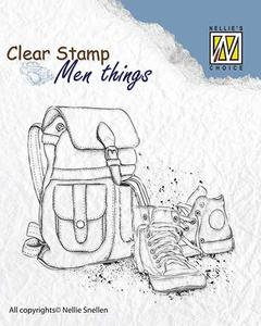 Bilde av Nellie Snellen - Clear Stamp - CSMT009 - Backpack and shoes