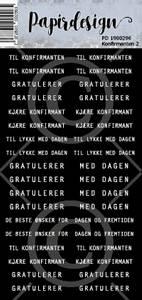 Bilde av Papirdesign - Klistremerker - 1900296 - Konfirmant 2 , sort
