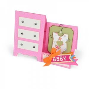 Bilde av Sizzix - Thinlits - 660289 - Baby Dresser Card