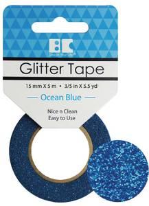 Bilde av BC - Glitter Tape - 15mm x 5m - 013 - Ocean Blue