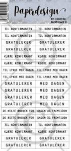 Bilde av Papirdesign - Klistremerker - 1900298 - Konfirmant 4 , hvit