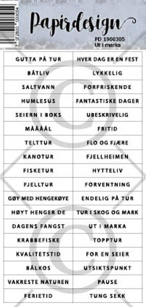 Papirdesign - Klistremerker - 1900305 - Ut i marka