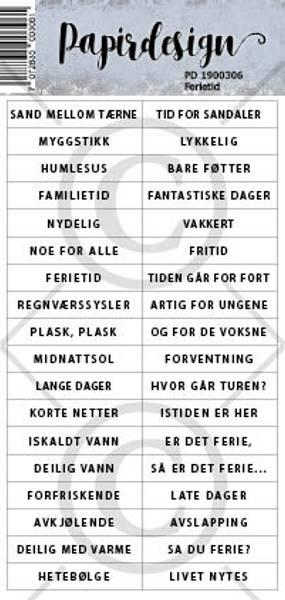 Papirdesign - Klistremerker - 1900306 - Ferietid