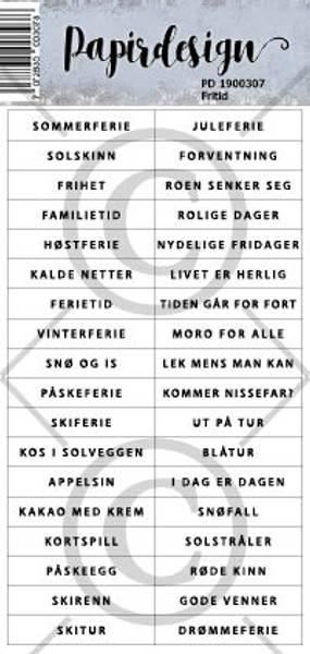 Papirdesign - Klistremerker - 1900307 - Fritid