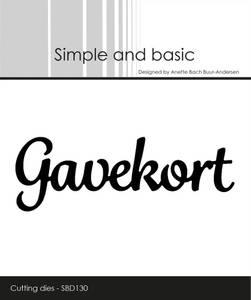 Bilde av Simple and basic - Dies - SBD130 - Gavekort