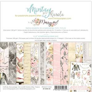 Bilde av Mintay - MRM - 6x6 Paper Pad - Marry Me
