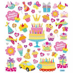 Bilde av Creotime - Stickers - 28882 - Fødselsdag m/ glitter