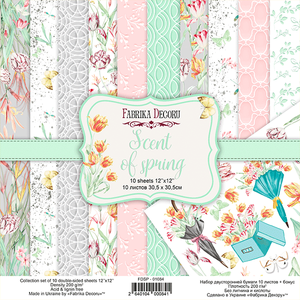 Bilde av Fabrika Decoru - 12x12 paper pack - 01084 - Scent of Spring