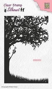 Bilde av Nellie Snellen - Clear Stamp - SIL048 - Scene with tree