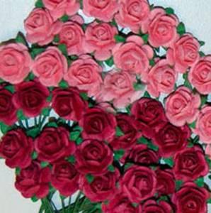 Bilde av Papirdesign - Roser - 1,8cm - Mørk Rosa