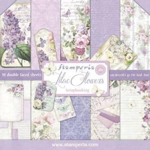 Bilde av Stamperia - 12x12 Paper Pack - 21 - Lilac Flowers