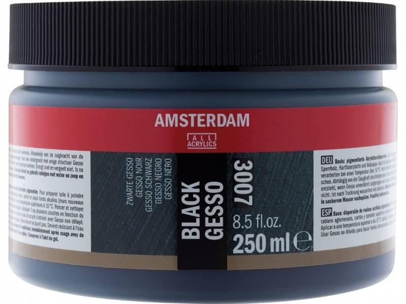 Amsterdam - 3007 - Gesso - Black - 250ml