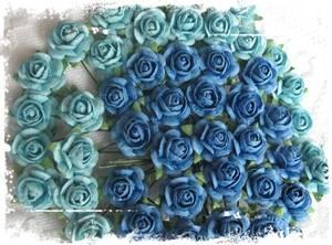 Bilde av Papirdesign - Roser - 1,2cm - Mellomblå