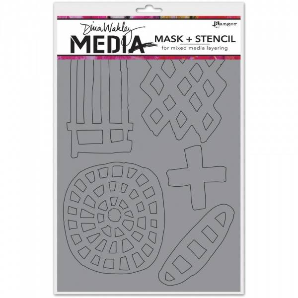 DINA WAKLEY - MEDIA MASK STENCIL 45595 - GRAPHIC SHAPES 6x9