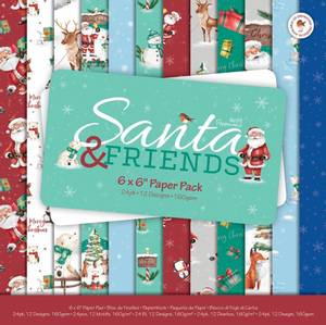 Bilde av Papermania - 6x6 Paper Pack - Santa and Friends
