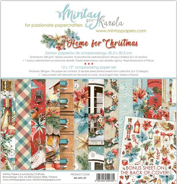 Mintay - HFC - 12x12 Paper Set - Home for Christmas