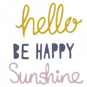 Bilde av Sizzix - Thinlits - 660804 - Happiness Phrases Set