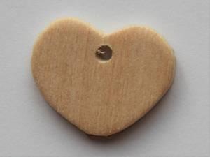 Bilde av Hjerte i tre - med hull - 17x20 mm - 12 stk