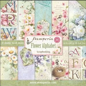 Bilde av Stamperia - 12x12 Paper Pack - 30 - Flower Alphabet