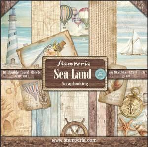 Bilde av Stamperia - 12x12 Paper Pack - 37 - Sea Land