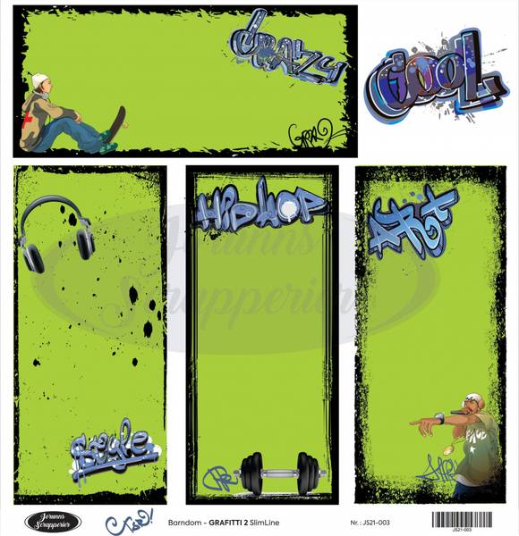 Jorunns Scrapperier - JS21-003 - Ungdom - Grafitti 2 SlimLine