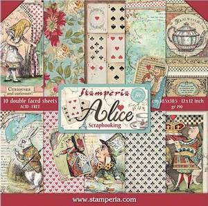 Bilde av Stamperia - 12x12 Paper Pack - 52 - Alice