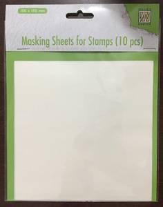 Bilde av Nellie Snellen - Masking sheets for Stamps - 15x15cm - 10 ark