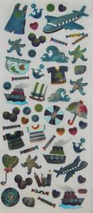 Bilde av Docrafts - Metallic Fun Stickers - At Sea