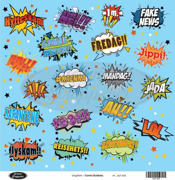 Jorunns Scrapperier - JS21-005 - Ungdom - Comic Bubbles