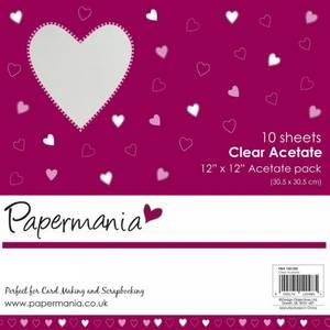 Bilde av Papermania - 12x12 - Clear Acetate (10pk)