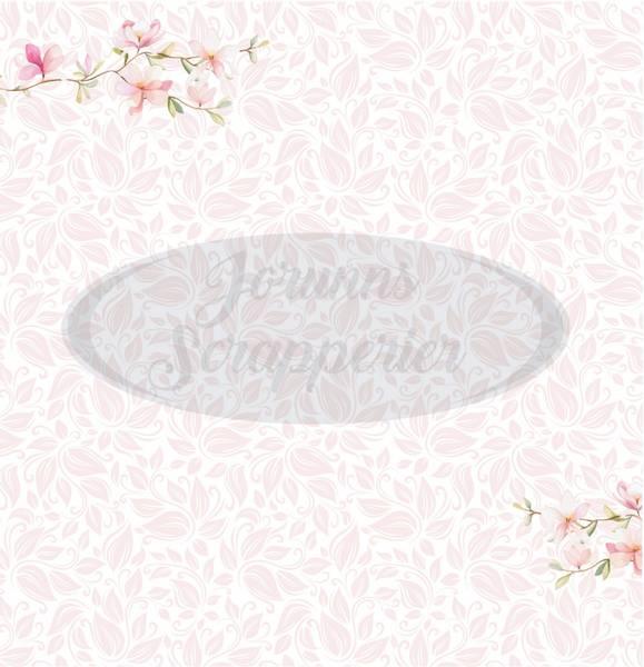Jorunns Scrapperier - JS21-006 - Flora - Rosa Magnolia