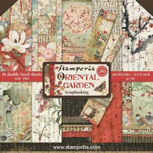 Bilde av Stamperia - 12x12 Paper Pack - 58 - Oriental Garden