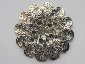 Bilde av Metall - Ornament Blomst 3D - Sølv - 3 stk