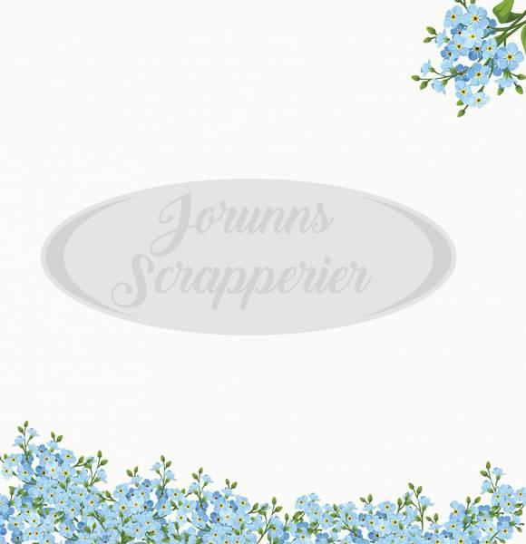 Jorunns Scrapperier - JS21-008 - Flora - Forglem Meg Ei