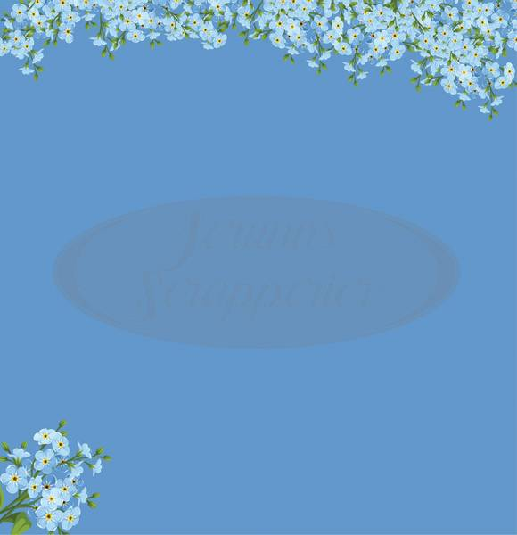Jorunns Scrapperier - JS21-009 - Flora - Forglem Meg Ei SlimLime