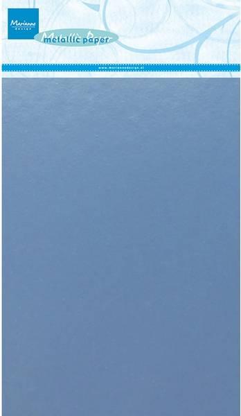 Marianne Design - 3141 - Metallic paper A5 - Light Blue - 5 pk