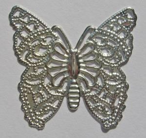 Bilde av Charms - Sommerfugl - sølv - 10 stk