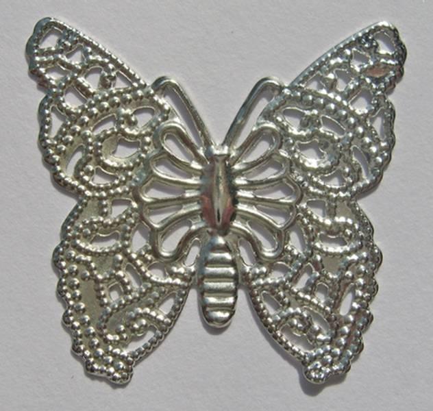 Charms - Sommerfugl - sølv - 10 stk