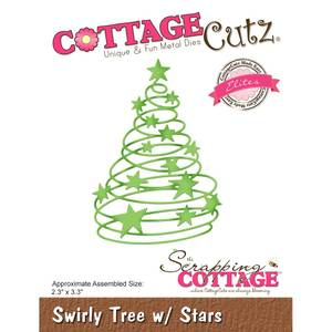 Bilde av CottageCutz - CCE526 - Swirly Tree W/Stars